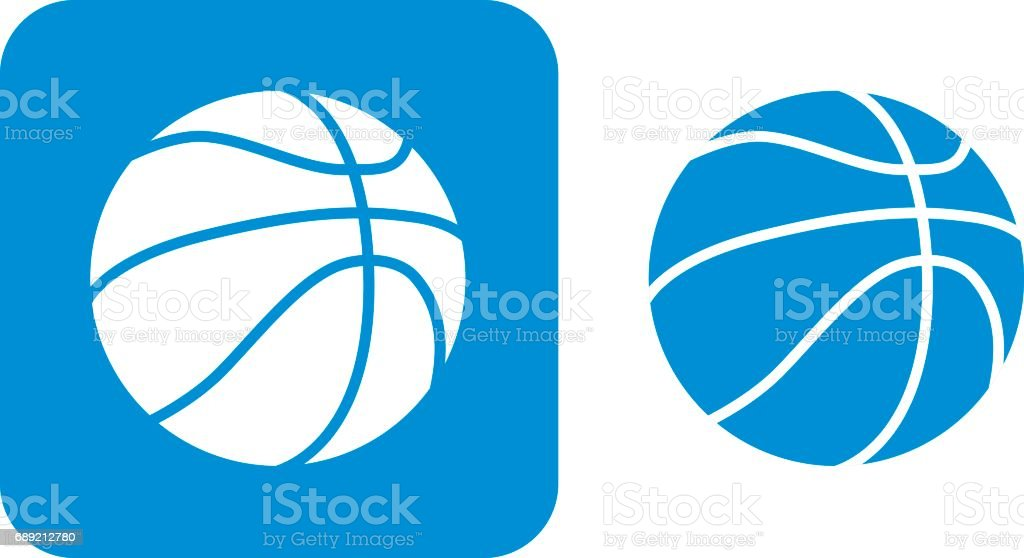 Blue Basketball Icons Vector illustration of two blue basketball icons. Basketball - Ball stock vector