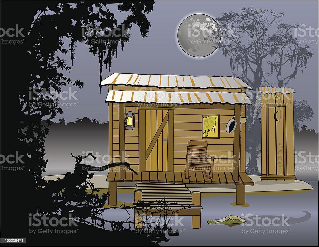 Blue Bayou vector art illustration
