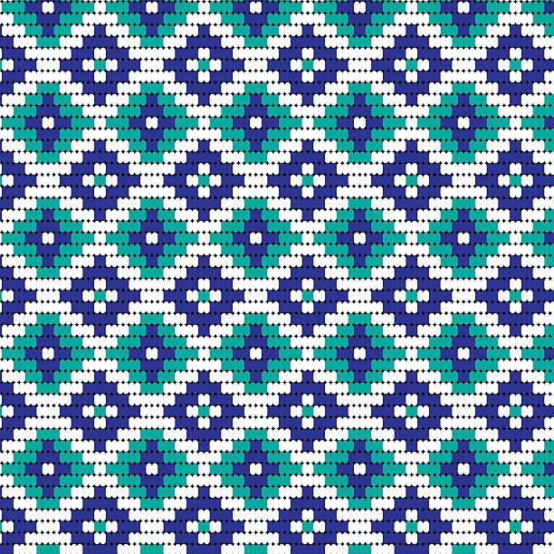 blue bead geometric pattern - bead stock illustrations, clip art, cartoons, & icons