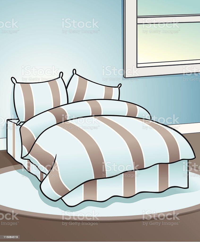 Blue Bedroom Illustration royalty-free blue bedroom illustration stock vector art & more images of backgrounds
