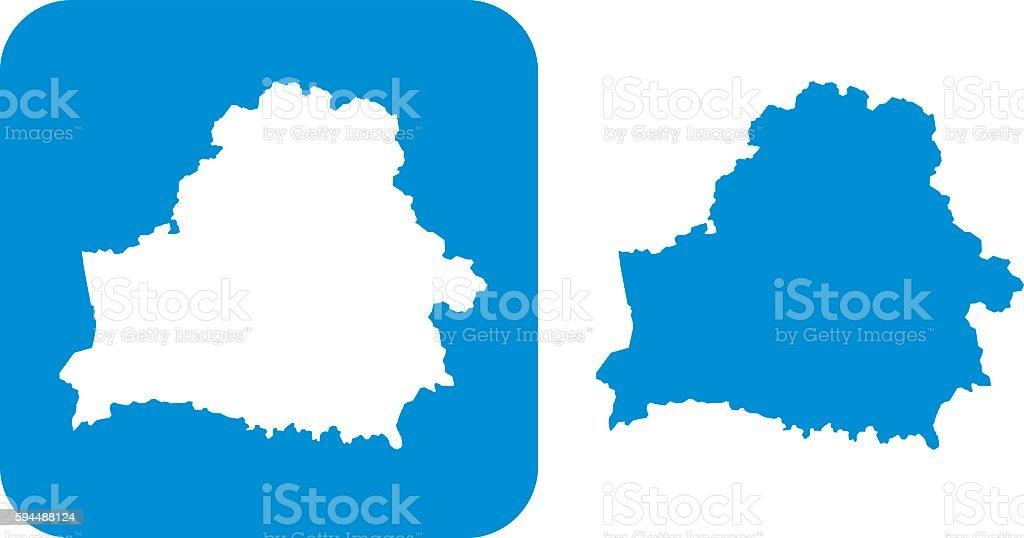 Blue Belarus Icons vector art illustration