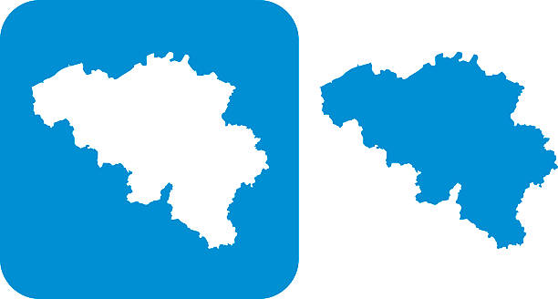 Blue Belgium Icon Vector illustration of two blue Belgium icons. south caucasus stock illustrations