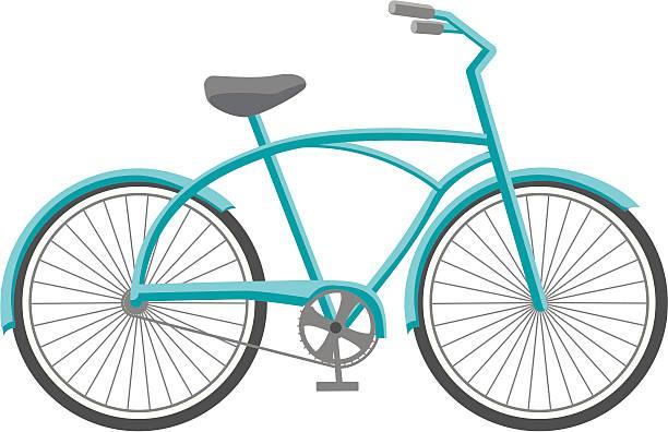 Blue Bike vector art illustration