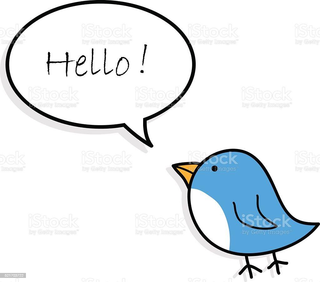 Blue Bird Greetings vector art illustration