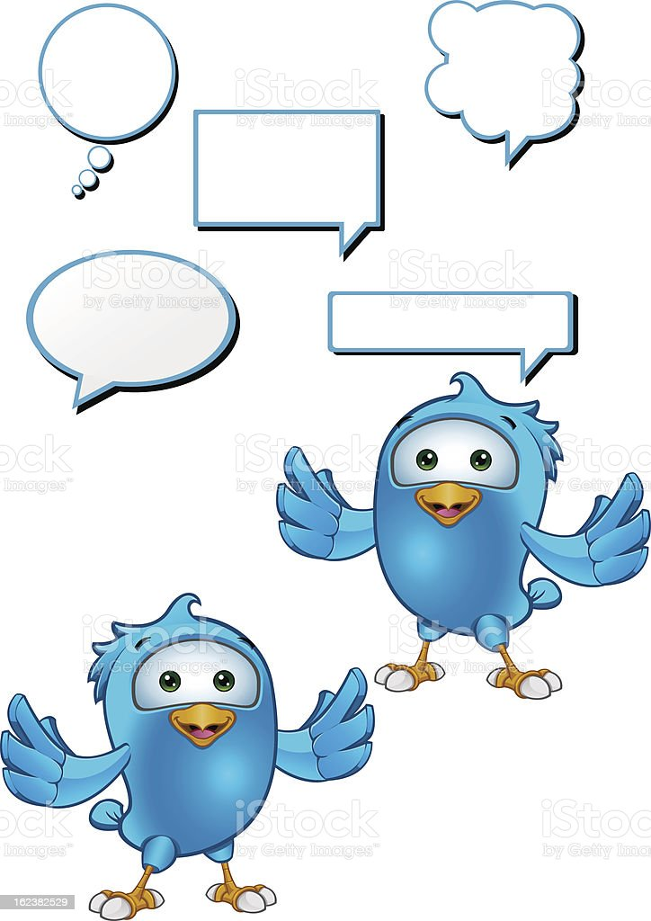 Blue Bird - Holding Arms Out vector art illustration