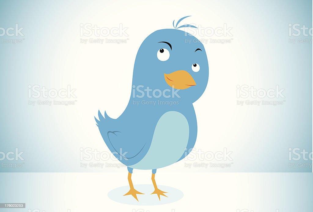 Blue Bird Icon vector art illustration