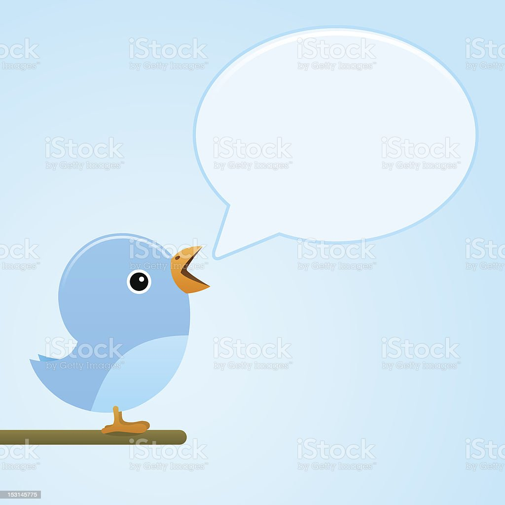 blue bird message royalty-free stock vector art