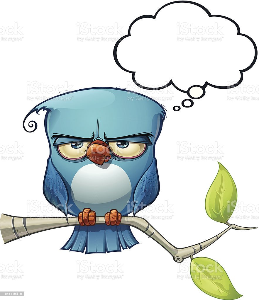 Blue Bird Serious royalty-free blue bird serious stock vector art & more images of authority