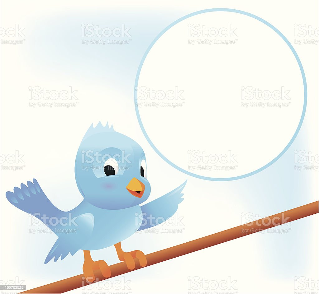 Blue Bird showing vector art illustration