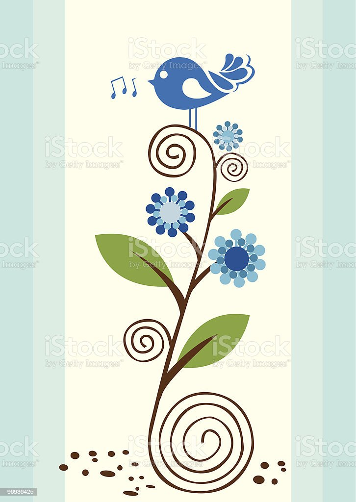 Blue Bird royalty-free blue bird stock vector art & more images of abstract