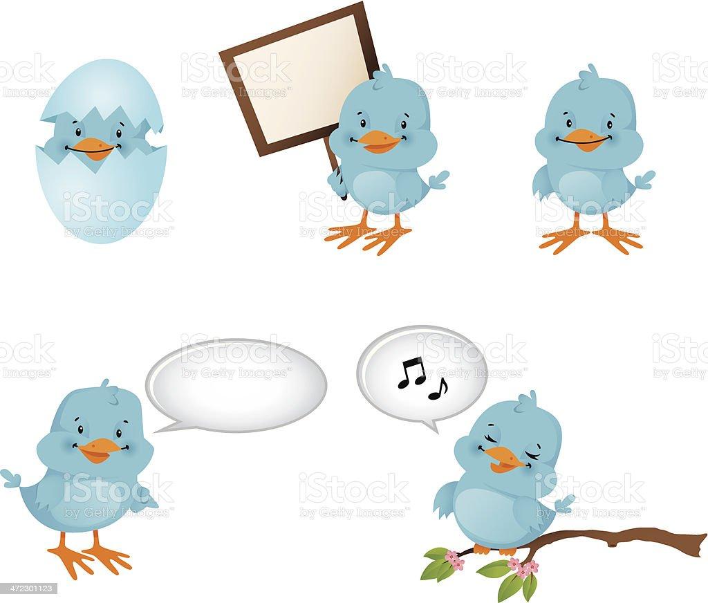 Blue Birds tweet royalty-free stock vector art