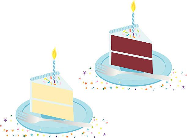 Gâteau d'anniversaire bleu - Illustration vectorielle