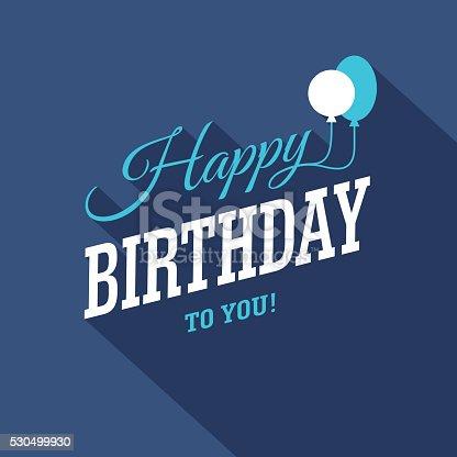 istock Blue Birthday Card 530499930