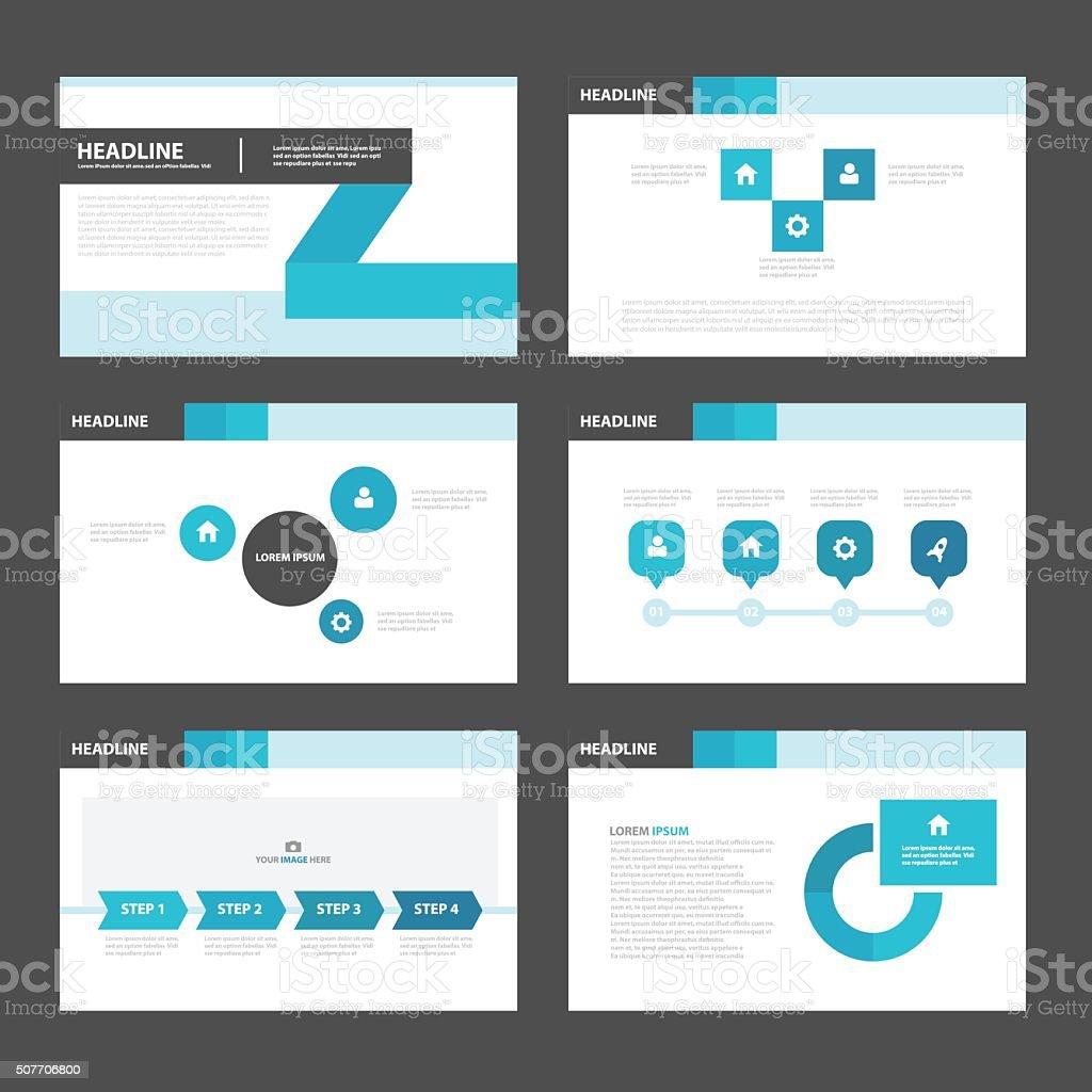 Blau Schwarz Präsentation Infografiken Flachen Designvorlagen ...