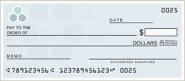 Blue Blank Check Blue Blank Check check financial item stock illustrations