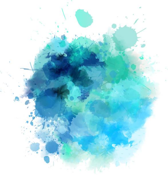 Blue blot vector art illustration
