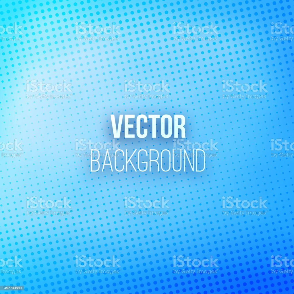 Blue Blurred Background With Halftone Effect vector art illustration