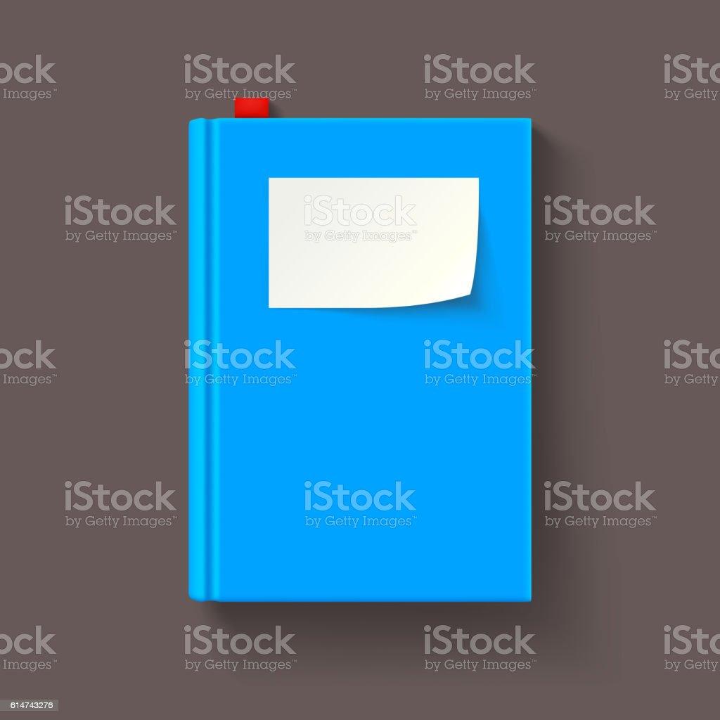 blue book 01 vector art illustration