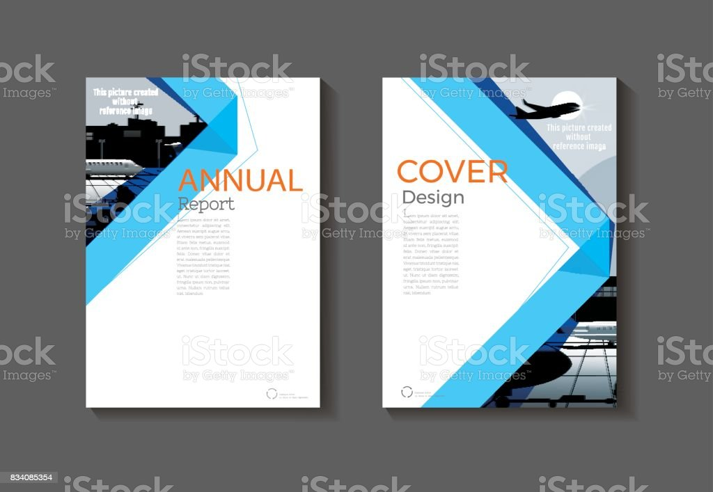 Modern Book Cover Design Template : Blue book cover design modern abstract brochure
