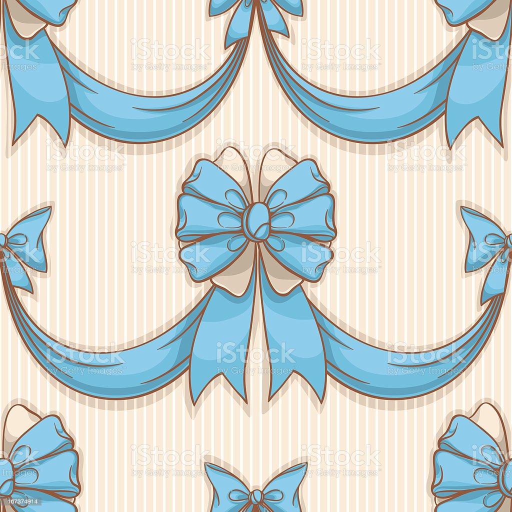blue bows royalty-free stock vector art