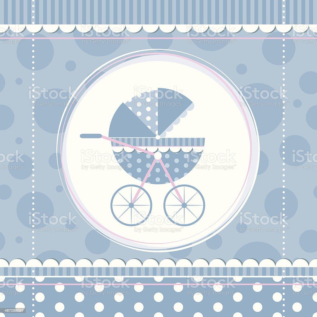 Blue Junge Babykinderwagen Stock Vektor Art und mehr Bilder von ...