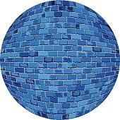 Blue brick ball