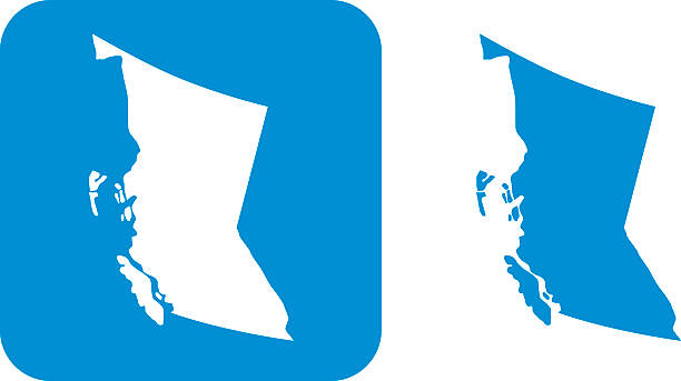 Blue British Columbia Icons vector art illustration