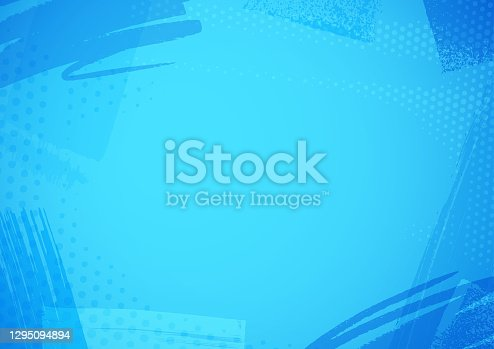 istock Blue brush pattern background 1295094894