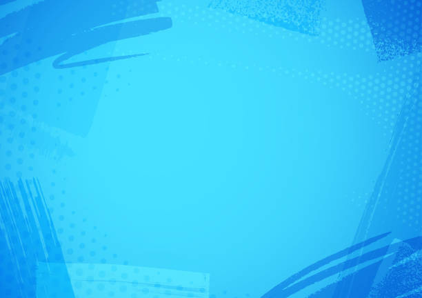 Blue brush pattern background vector art illustration