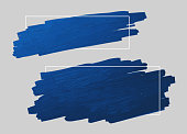 istock Blue brush stroke and line frame with copy space vector illustration 1198818677