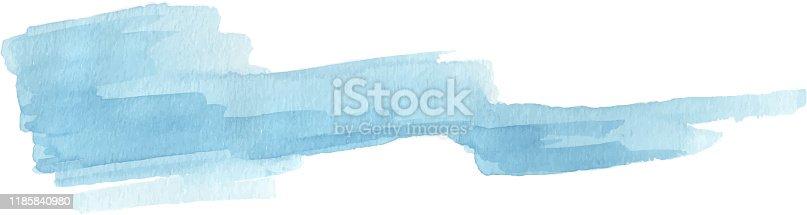 blue thick brush stroke design