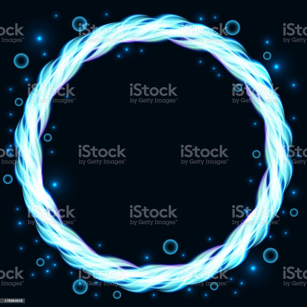 Bolle Blu Illustrazione Di Sfondo Astratto Cerchio Immagini