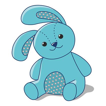 blue Bunny of fabric