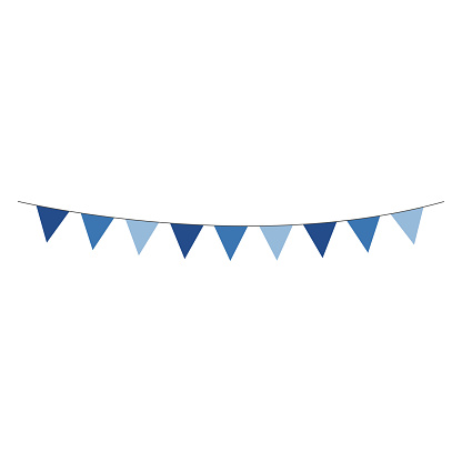 Blue Bunting Banner