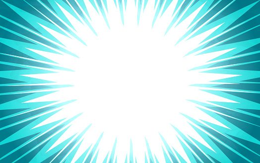 Blue Burst Explosion Abstract Background
