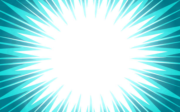 Blue Burst Explosion Abstract Background Blue burst explosion abstract blast background. excitement stock illustrations