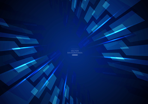 Blue business technology quadrilateral background