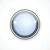Blue button for your design, icon