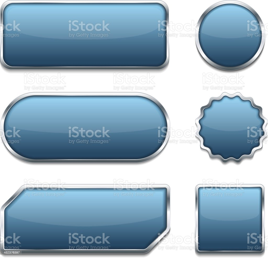 Blue Buttons royalty-free stock vector art