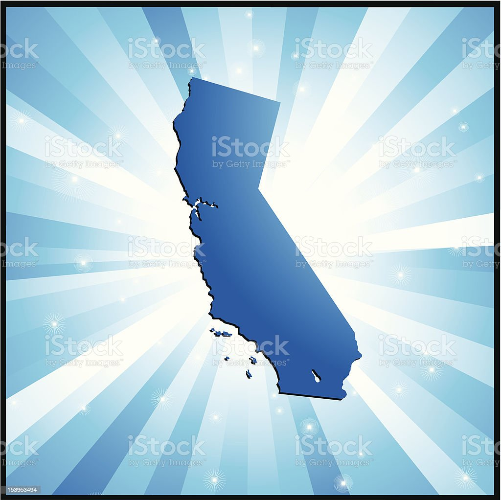 Blue California royalty-free blue california stock vector art & more images of blue