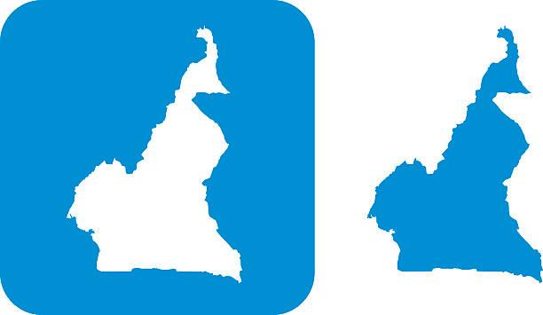 blue cameroon icons - kamerun stock-grafiken, -clipart, -cartoons und -symbole
