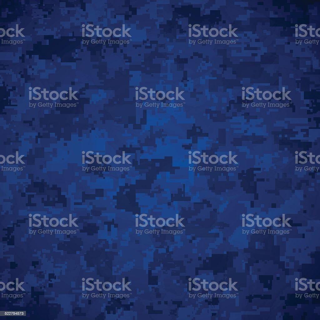 Blue Camoflage Pattern vector art illustration