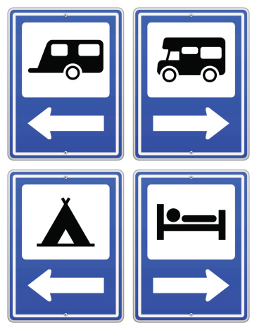 Blue Camp Sign Stock Illustration - Download Image Now