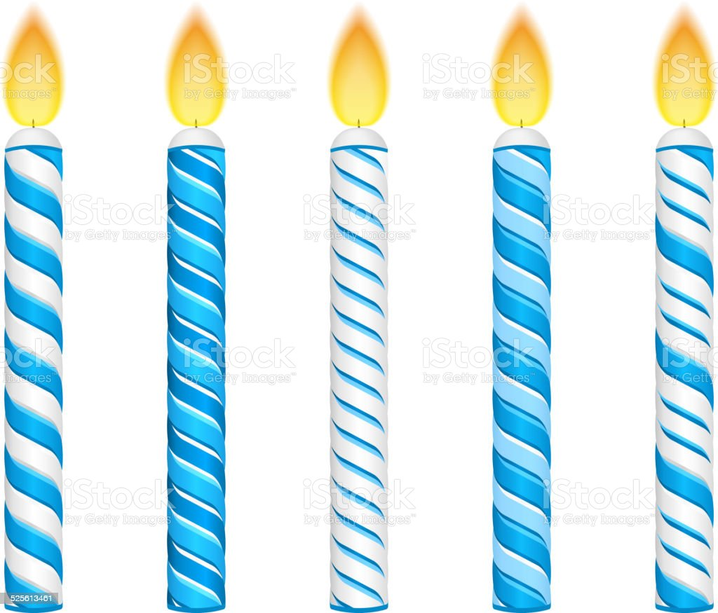 Bleu des bougies - Illustration vectorielle