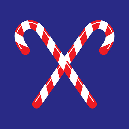 Blue Candy Cane Icon