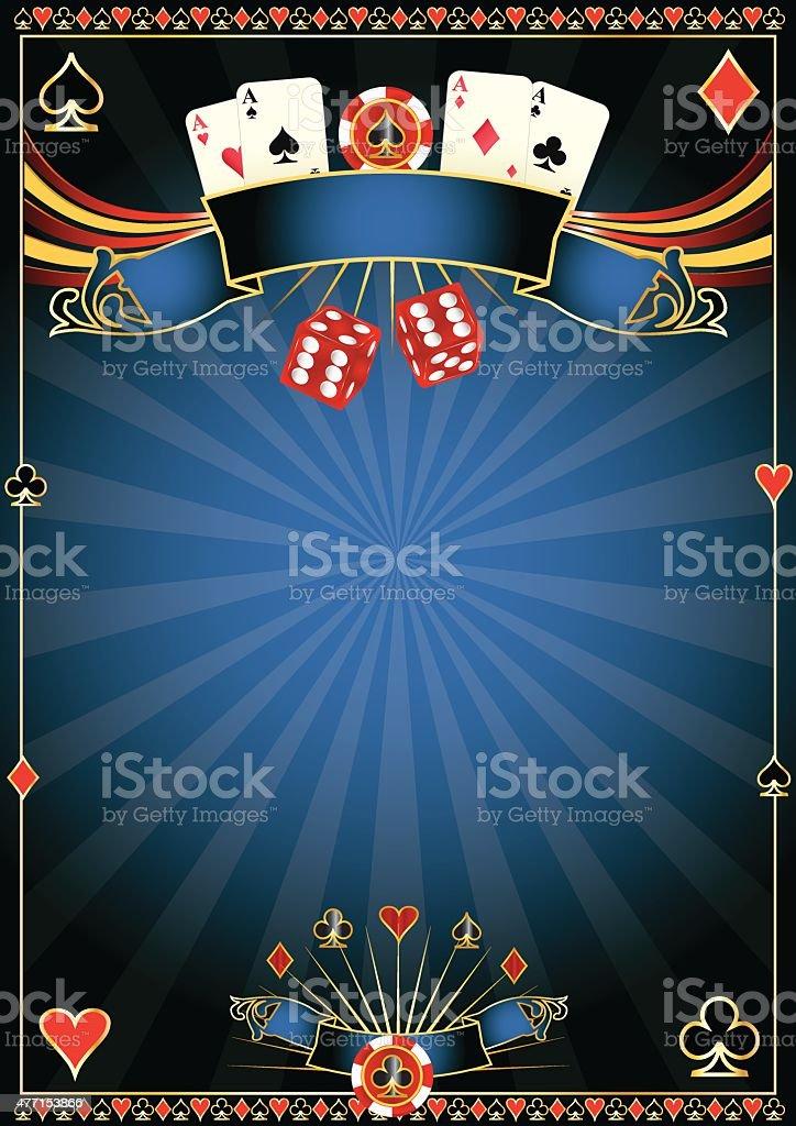 blue Casino vector art illustration