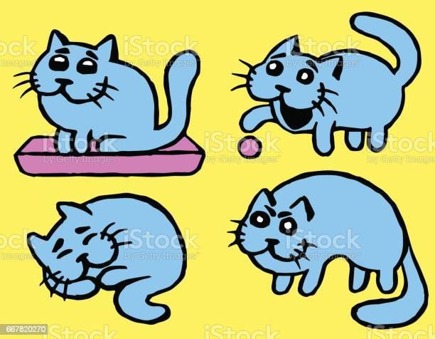 Blue cats emoticons second set vector illustration vector id667820270?b=1&k=6&m=667820270&s=612x612&h=t 3k6qwwltxubfhh8fct3dyclxtpsgypsv 7fw9at1m=