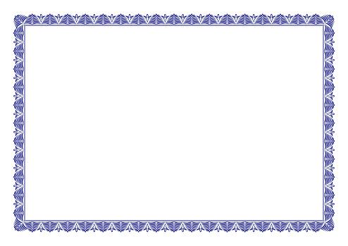 Blue Certificate of Appreciation Border