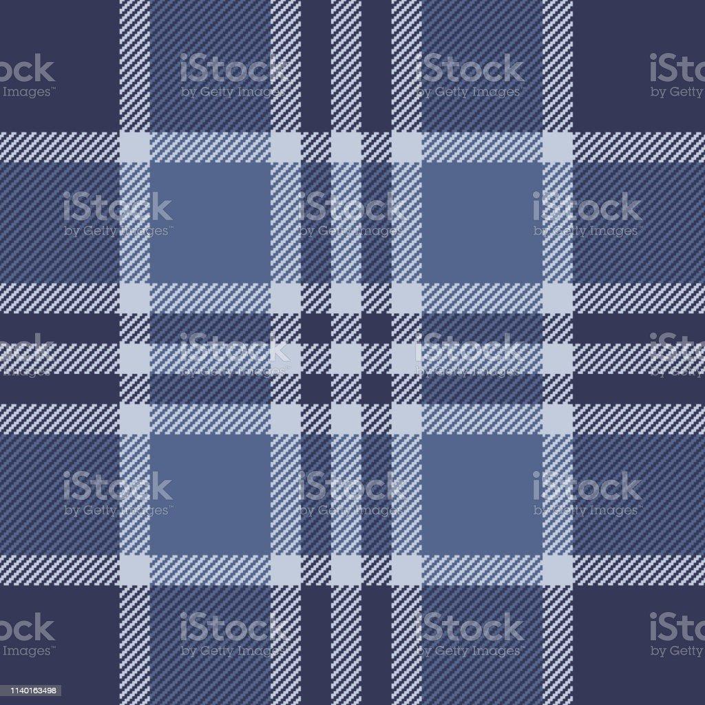 Blue check plaid pixel pattern. Seamless tartan check plaid for...