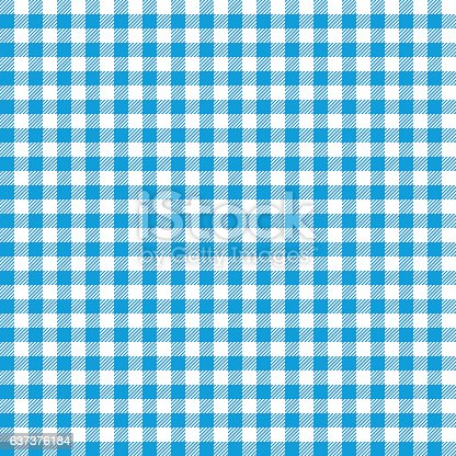 Seamless Checkered seamless Pattern. Blue and white tablecloth background. Picnic gingham cloth template. Retro craft art print curtains fashioned style fabric vintage square.